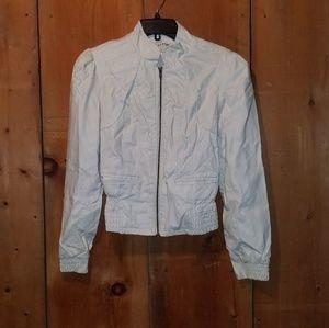 Ashley white polyester jacket